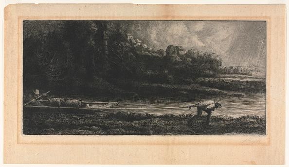 Etching「Le Paysage Au Bâteau. Creator: Alphonse Legros (French」:写真・画像(4)[壁紙.com]