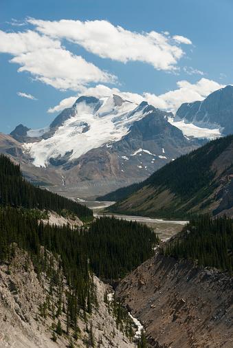 アサバスカ山「Mount Athabasca with Sunwapta River」:スマホ壁紙(10)