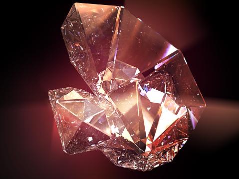 Glass - Material「StarG_red」:スマホ壁紙(9)