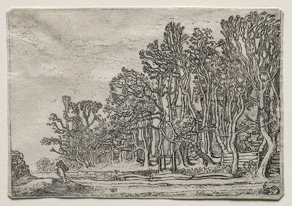 Etching「The Set Of The Landscapes: Two Plank-Hedges」:写真・画像(3)[壁紙.com]