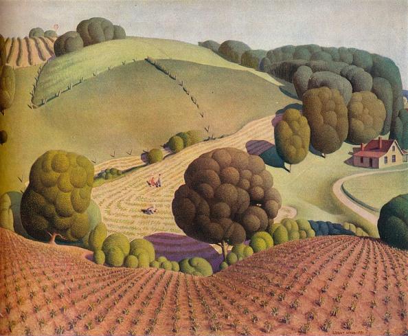 Woodland「Young Corn, 1931, (1938). Artist: Grant DeVolson Wood」:写真・画像(9)[壁紙.com]