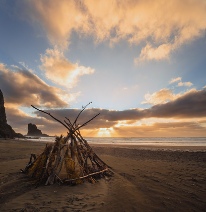 New Zealand Culture「Shelter on beach.」:スマホ壁紙(16)