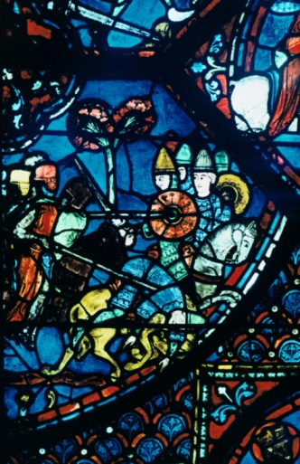 Battle「Stained glass window from the Cathedral of Chartres, France」:スマホ壁紙(4)