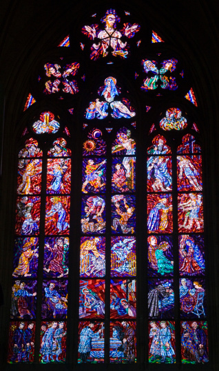 St Vitus's Cathedral「Stained glass window in Prague Castle, Prague, Czech Republic」:スマホ壁紙(19)