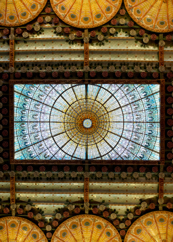 20th Century Style「Stained Glass Dome」:スマホ壁紙(5)