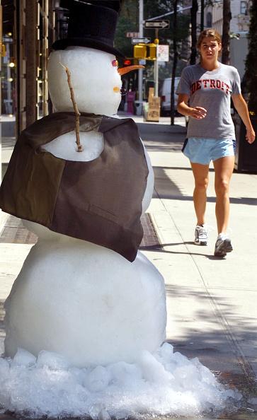 雪だるま「Snowman Chills Out in New York City Summer」:写真・画像(11)[壁紙.com]