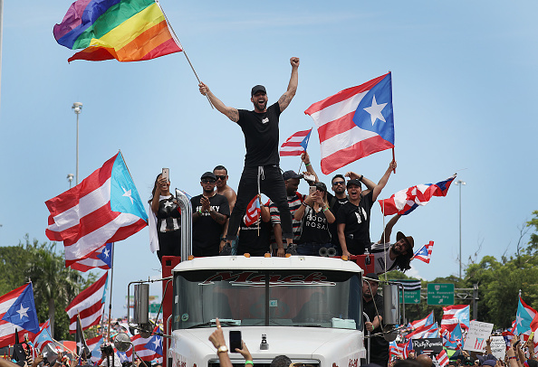 Ricky Martin「Protesters Demand Resignation Of Puerto Rico's Governor Ricardo Rossello」:写真・画像(4)[壁紙.com]