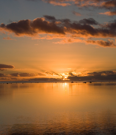 アイツタキ島「Cook Islands, Aitutaki Lagoon, sunset」:スマホ壁紙(13)