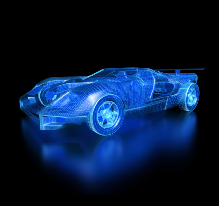 Headlight「Car Blueprint-with clipping path」:スマホ壁紙(4)