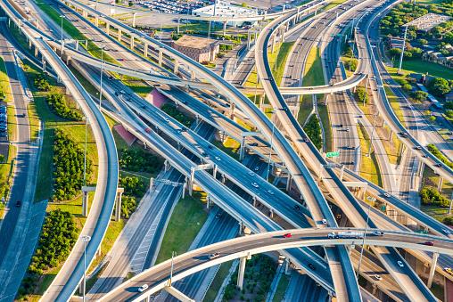 米メキシコ湾沿岸「Interstate Highway Interchange I 10 I410 尿 mixmaster サンアントニオの空からの眺め」:スマホ壁紙(14)