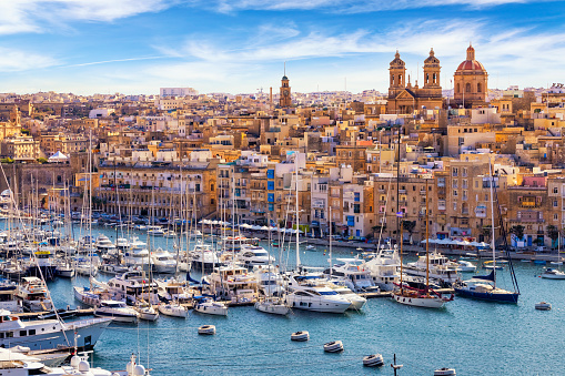 Cruise - Vacation「Isla in Malta with Grand Harbour Marina, Mediterranean travel destination」:スマホ壁紙(0)