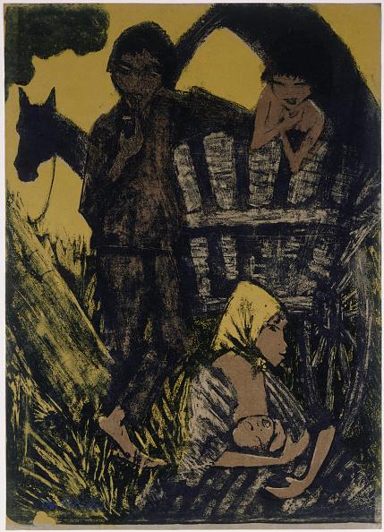 Chromolithograph「Gypsy Family Beside Covered Wagon」:写真・画像(17)[壁紙.com]