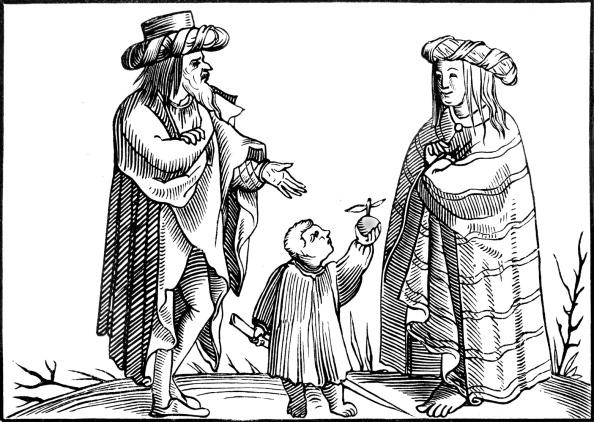 Woodcut「Gypsy family in the sixteenth century」:写真・画像(11)[壁紙.com]