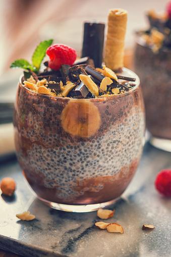 Almonds「チョコレートとバナナの嘉種子プディング」:スマホ壁紙(1)