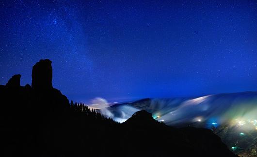 star sky「night time over Grand Canary island」:スマホ壁紙(10)