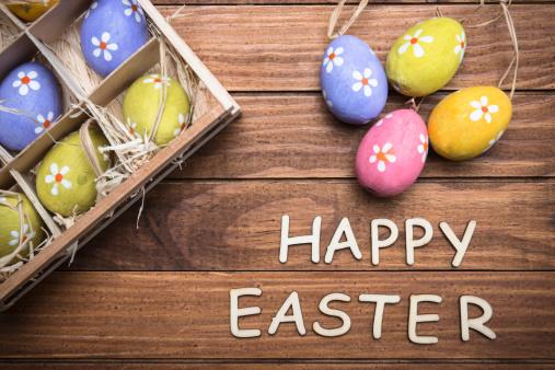 Easter Basket「basket of easter eggs with text」:スマホ壁紙(8)