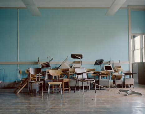 Heap「Old, broken chairs in an abandoned school」:スマホ壁紙(1)
