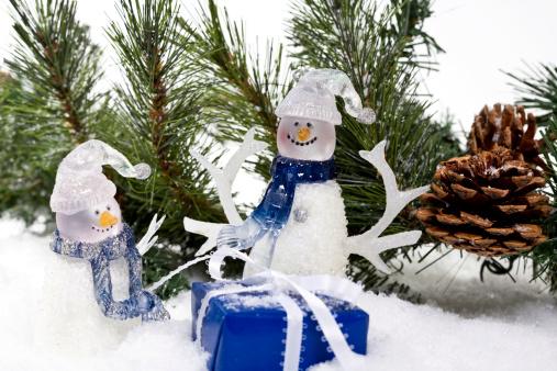 雪だるま「ギフト、雪だるま」:スマホ壁紙(8)