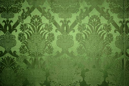 Floral Pattern「Old vintage green wallpaper texture」:スマホ壁紙(8)