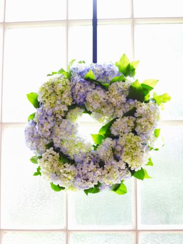 あじさい「Floral wreath」:スマホ壁紙(4)