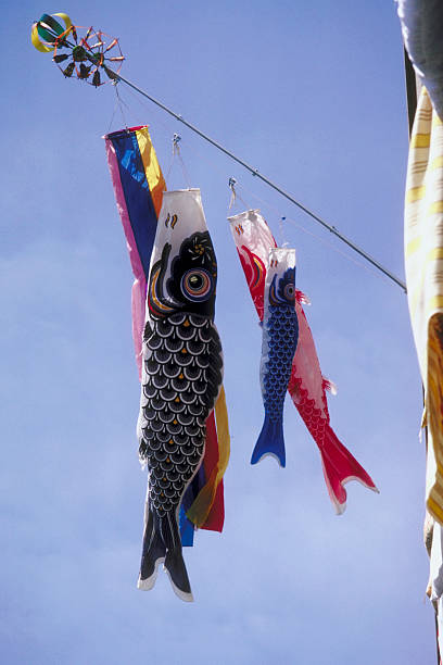 Hanging windsocks of fish:スマホ壁紙(壁紙.com)
