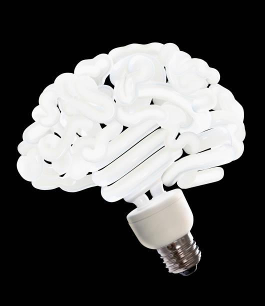 CFL lightbulb shaped like a brain:スマホ壁紙(壁紙.com)