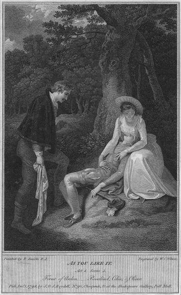 Napkin「'As You Like It. Act 4. Scene 3. Forest of Arden, - Rosalind, Celia & Oliver', 1798.  Artist」:写真・画像(7)[壁紙.com]