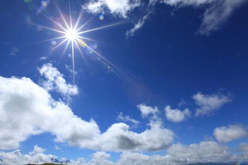 雲「Sun in Sky」:スマホ壁紙(11)