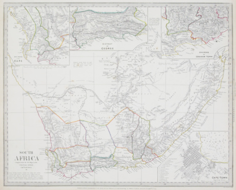 Latitude「Vintage map of South Africa with four insets」:スマホ壁紙(7)