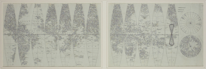 Latitude「Vintage map of the world in sections」:スマホ壁紙(5)