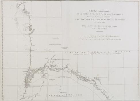 Latitude「Vintage map of coast of western Africa」:スマホ壁紙(8)