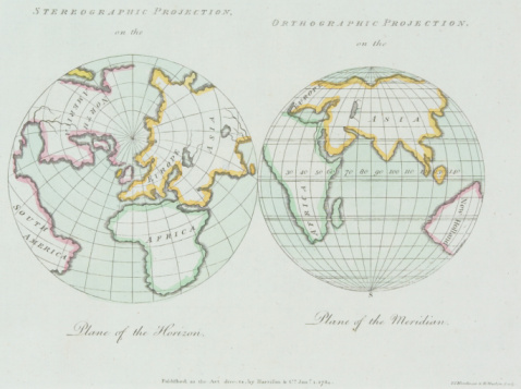 Latitude「Vintage map of eastern hemisphere and north pole」:スマホ壁紙(10)