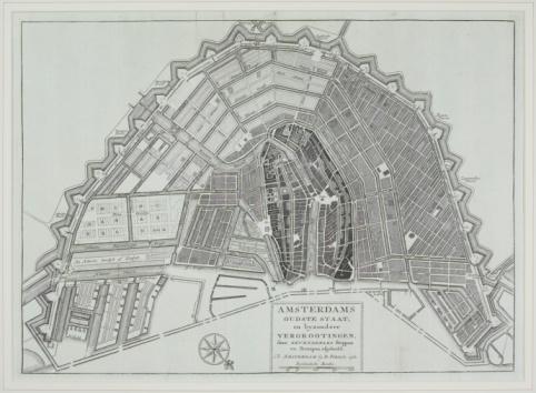 Amsterdam「Vintage map of Amsterdam」:スマホ壁紙(15)