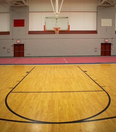 バスケットボール「Empty basketball court」:スマホ壁紙(19)
