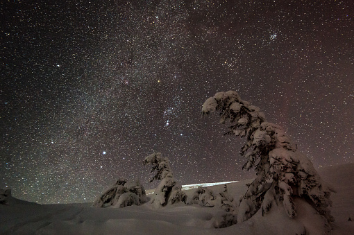 Multiple Exposure「Night stars and milky way in winter」:スマホ壁紙(16)