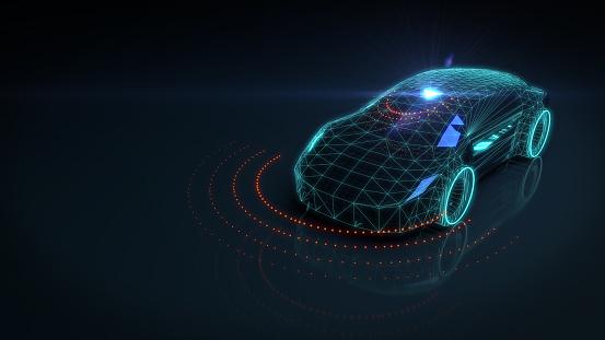 Driving「Self drive autonomous vehicle」:スマホ壁紙(3)