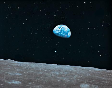 Moon「Earth and Lunar surface」:スマホ壁紙(13)