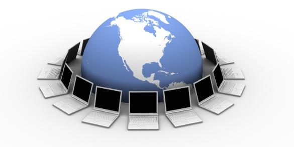 Virtual Reality「Earth and laptops」:スマホ壁紙(8)