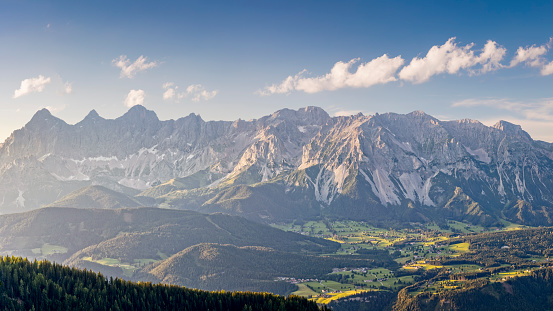 Dachstein Mountains「Mount Dachstein Panorama at Schladming - Alps」:スマホ壁紙(18)