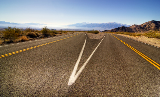 Dividing Line - Road Marking「Roads Death Valley California USA」:スマホ壁紙(8)