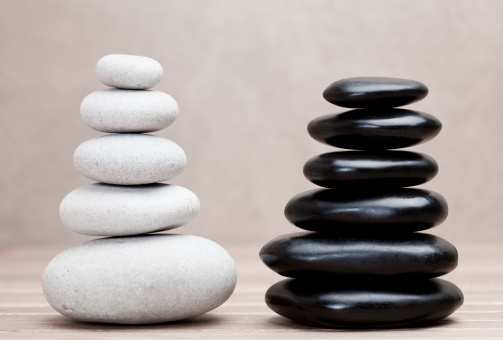 Basalt「grey and black piled pebble stones」:スマホ壁紙(4)