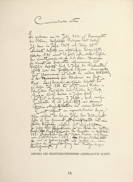 Resume「Vitae Gustav Klimt'S Draft Curriculum」:写真・画像(15)[壁紙.com]