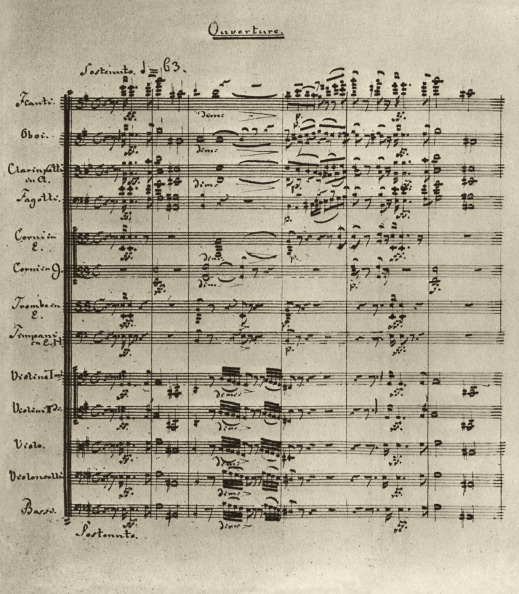 Sheet Music「First page of the score to Raupach's 'King Enzio'」:写真・画像(10)[壁紙.com]