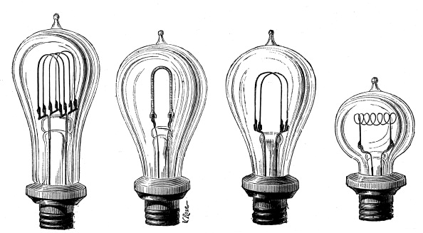 Light Bulb「Edison's incandescent lamps showing various forms of carbon filament, 1883.」:写真・画像(13)[壁紙.com]