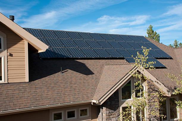 Electric solar panels, home, exterior:スマホ壁紙(壁紙.com)