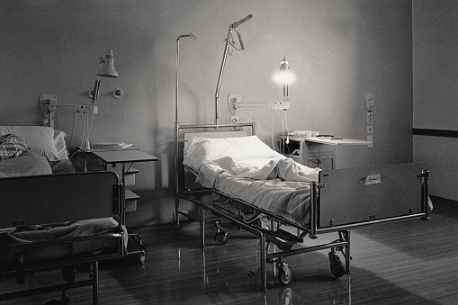Medicine「Vintage image of hospital bed」:スマホ壁紙(4)