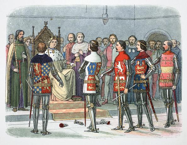 Sports Venue「Nobles Before King Richard II Westminster 1387 (1864)」:写真・画像(3)[壁紙.com]