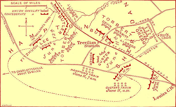 Battle of Travellian Station map - American Civil War:ニュース(壁紙.com)