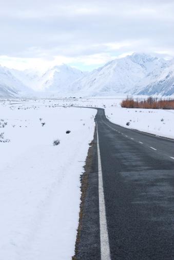 Mount Tasman「Road to Mt Cook (Aoraki), New Zealand」:スマホ壁紙(6)