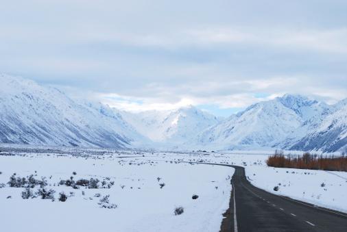 Snowdrift「Road to Mt Cook (Aoraki), New Zealand」:スマホ壁紙(15)